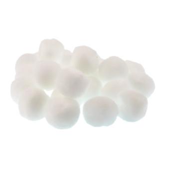 Pompon 50 mm 15 kom, bijeli