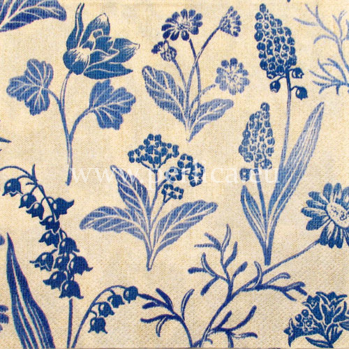 "Salveta ""Linen flowers blue"" UV2"