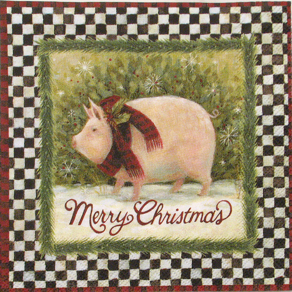 Salveta Merry Christmas Pig ZI23
