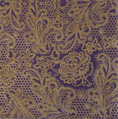 Salveta Lace Royal Purple Gold GL1