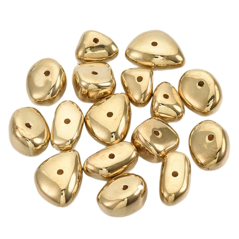 Perlice kamenčići vel .10~14.5mm dužina, 7~11mm širina, 5~7mm debljina, rupa: 1.2mm; 20 kom u paketu,CCB1