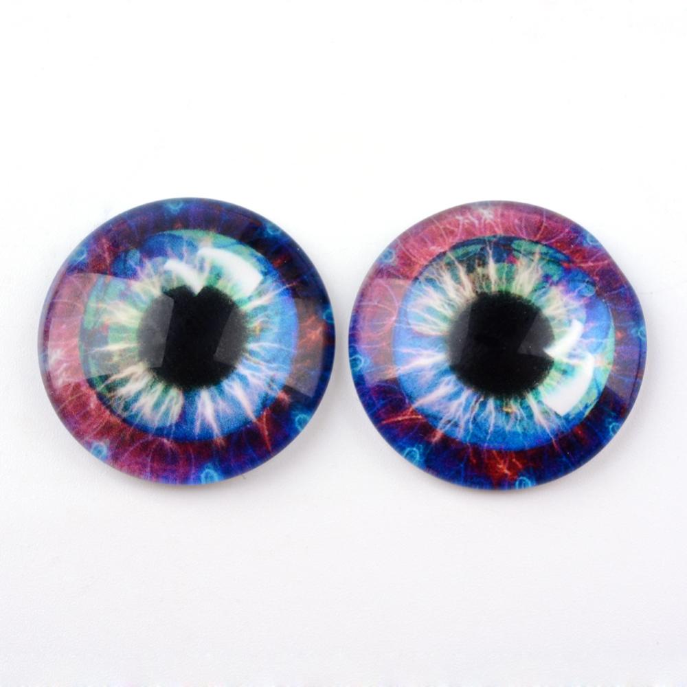 Oči za lutke 10 mm, 10 kom, ljubičasto