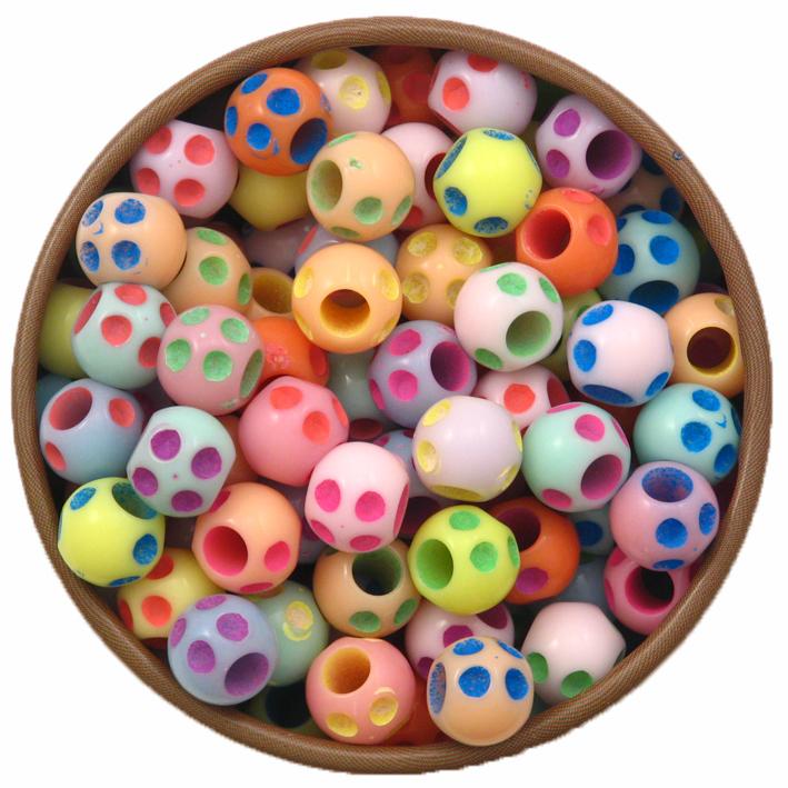 Perlice akrilne, rondele vel. 6,5x5,5 mm,rupa 2,5 mm,  50 kom, PL11