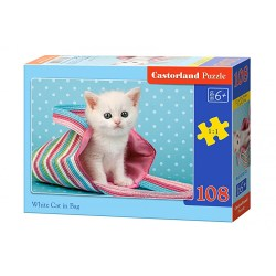 B-010172 108 PUZZLE EL.WHITE CAT