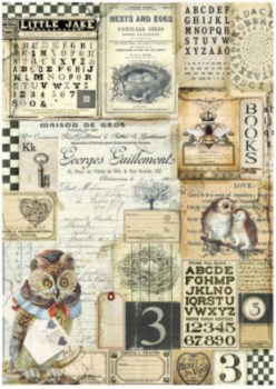 Dec papir Alchemy - Owl, alphabet (1)