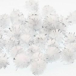 Pompom-metalik-bijeli