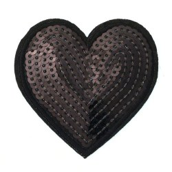 Zakrpa-srce-crna