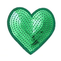Zakrpa-srce-zelena