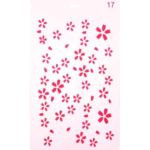 Šablona cvijeće 26 x 17,5 cm