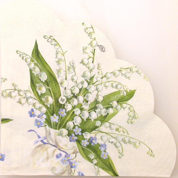 Salveta Convallaria cream okrugla, C45