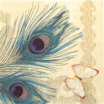 Salveta Peackok Feathers PT12