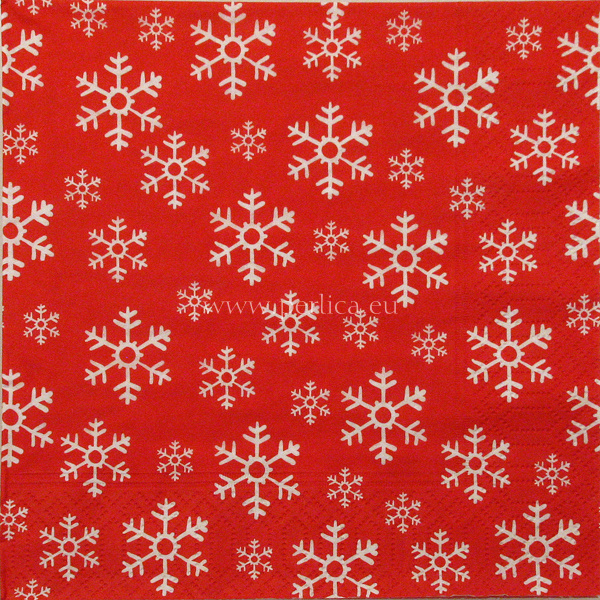 Salveta Red snowflakes  ZI28