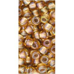 TOHO 6/0  Gold-Lined Topaz 10 gr